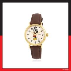 [미키마우스] 클래식 브라운 가죽시계 OTW120111AYN