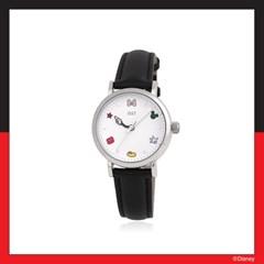 [미키마우스] 모티브 블랙 가죽시계 OTW120101ASB