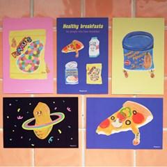 [먹이사슬] 피넛 시리즈 엽서 5종