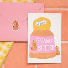 [먹이사슬] 피넛 엽서 세트 (엽서 + 봉투 + 스티커)