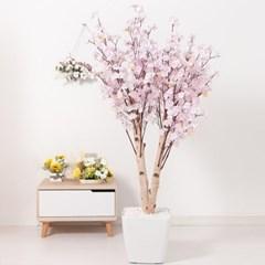쌍대벚꽃나무화분set 170cm K 조화 인조 나무 인테리어_(1689398)
