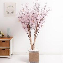쌍대벚꽃나무화분set 230cm K 조화 인조 나무 인테리어_(1689396)