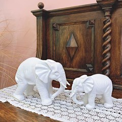 풍수인테리어소품 화이트 모던 코끼리장식품