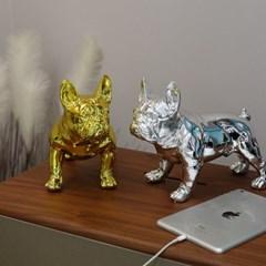 메탈 골드 실버 불독장식품 강아지장식품 조각상