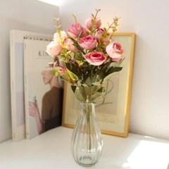 미니 장미부쉬 인테리어 조화꽃장식 (5color)