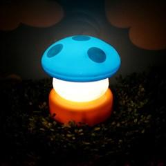 터치 버섯램프 무드등 Mini - 블루