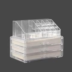 스탈리나 액세서리보관함 세트 / 투명 화장품보관함
