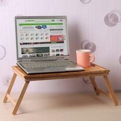 대나무 좌식 노트북 책상