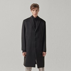CASHMERE SINGLE COAT_BLACK