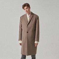 CASHMERE SINGLE COAT_KHAKI