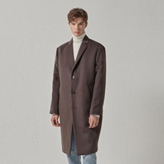 CASHMERE SINGLE COAT_BROWN