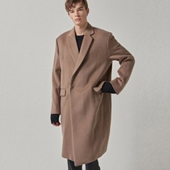 WOOL SNAP COAT_COCOA