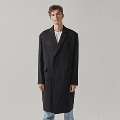 WOOL SNAP COAT_BLACK