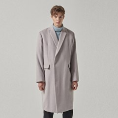 WOOL SNAP COAT_LIGHT GRAY