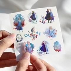 디즈니 겨울왕국 2_홀로그램 스티커_(4종)