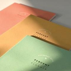 퍼센트 플래너 (PERCENT PLANNER) 1개월- 3color