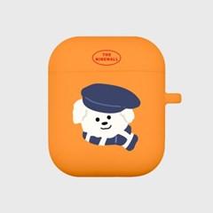 모자 쓴 뽀꾸 에어팟 케이스[orange]