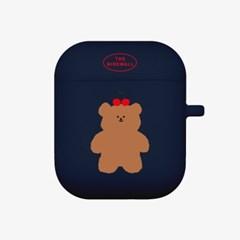 cherry slow bear 에어팟 케이스[navy]