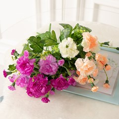샤인 카네이션 부쉬o 30cm 조화 성묘 꽃 어버이날 인테리어 FAICFT