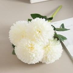 퀸폼폼 카네이션 부쉬 40cm 조화 성묘 꽃 어버이날 인테리어 FAICFT