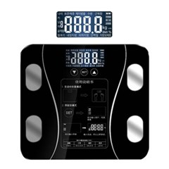 LCD 스마트 터치 체지방 디지털체중계 블랙