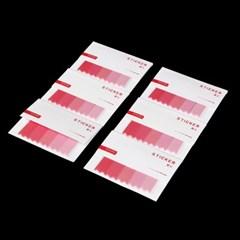 레드 접착 인덱스메모지 6p세트 /메모지플래그