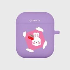 [에어팟젤리]rabbit frame-Purple