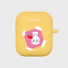 [에어팟젤리]rabbit frame-Yellow