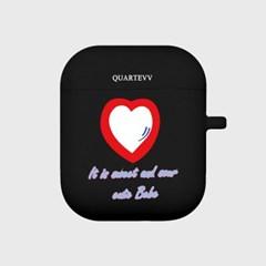 [에어팟젤리]Red Heart-Black