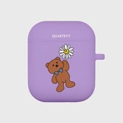 [에어팟젤리]Flower Bear-Purple