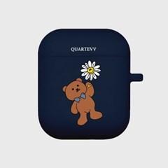 [에어팟젤리]Flower Bear-Navy