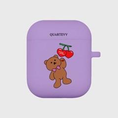[에어팟젤리]Cherry Bear-Purple