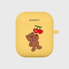 [에어팟젤리]Cherry Bear-Yellow