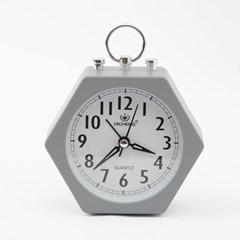 퀴리 육각형 알람시계 / 무소음 탁상시계