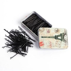 파리지엔 실핀 200p(일자형)/올림머리 검정 머리핀