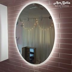 아트벨라 타원형 직간접 LED 거울 585x785