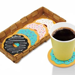 도넛모양 컵받침 4p 1세트