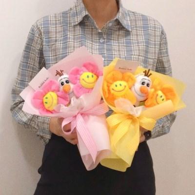 미니 올라프 인형 꽃다발
