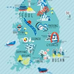한국사랑 지도엽서 시리즈 02 KOREA 한국
