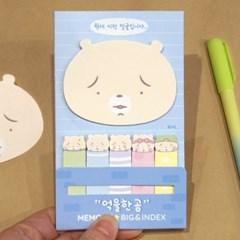 억울한 곰 메모잇-빅&인덱스