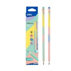 델리 마카롱 지우개형 연필 HB (12자루)_(14359948)