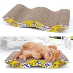 고양이 물결모양 스크래처 1개