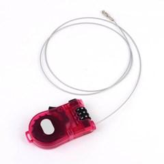 휴대용 와이어 자물쇠 1개(색상랜덤)