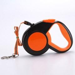 리플렉터 5M 애견 자동 리드줄(오렌지)/강아지 산책줄