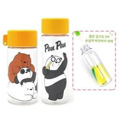 위베어베어스 플레이 보틀(스마트캡) 2종세트+스펀지 병솔(일자형)
