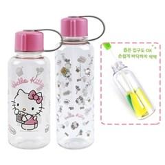 헬로키티 플레이 보틀(고리) 2종세트+스펀지 병솔(일자형)