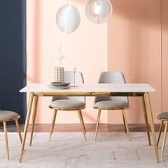 잉글랜더 피닉스 마블화이트 통세라믹 4인용 식탁(의자 미포함)