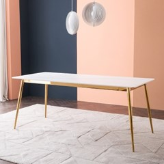 잉글랜더 피닉스 마블화이트 통세라믹 6인용 식탁(의자 미포함)