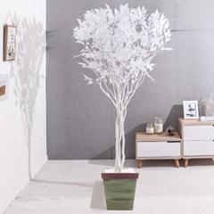 라인-화이트자작나무화분set 210cm 조화 인조 나무 인테_(1689362)