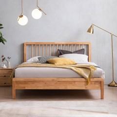 아스티 전체 고무나무 원목 침대(DH 본넬서포트매트-Q)
